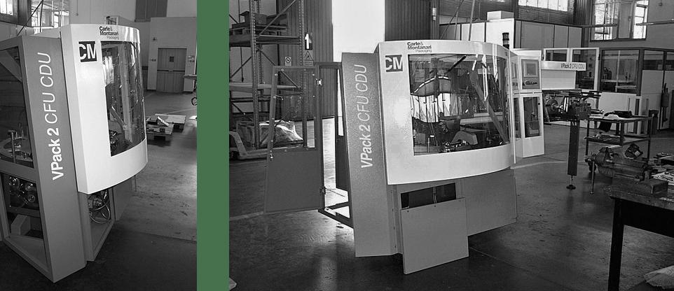 030 INTERNO CARLE MONTANARI VPACK 2 03 Industrial design ed engineering della carrozzeria per macchina Confezionatrice. Gestione della produzione di pre serie