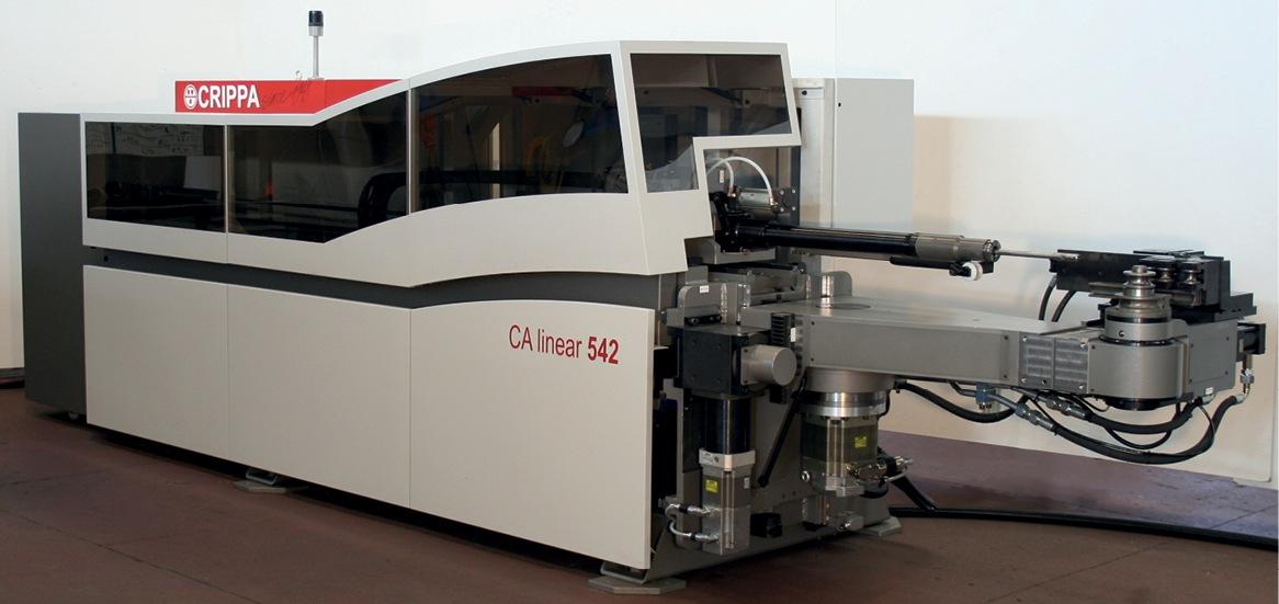 Industrial design carrozzeria macchina curvatubi Crippa