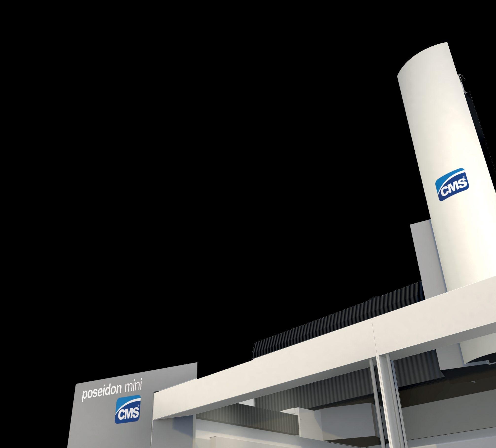 Progettazione design carrozzeria centro di lavoro CMS Poseidon