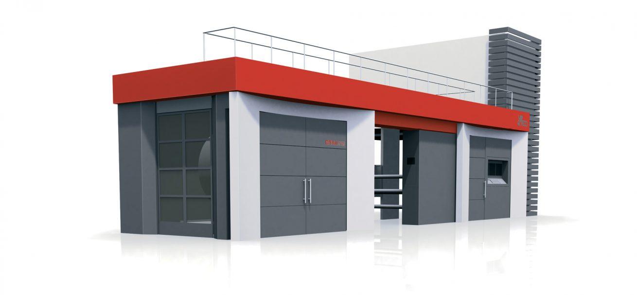 Progettazione design carrozzeria macchina flessografica