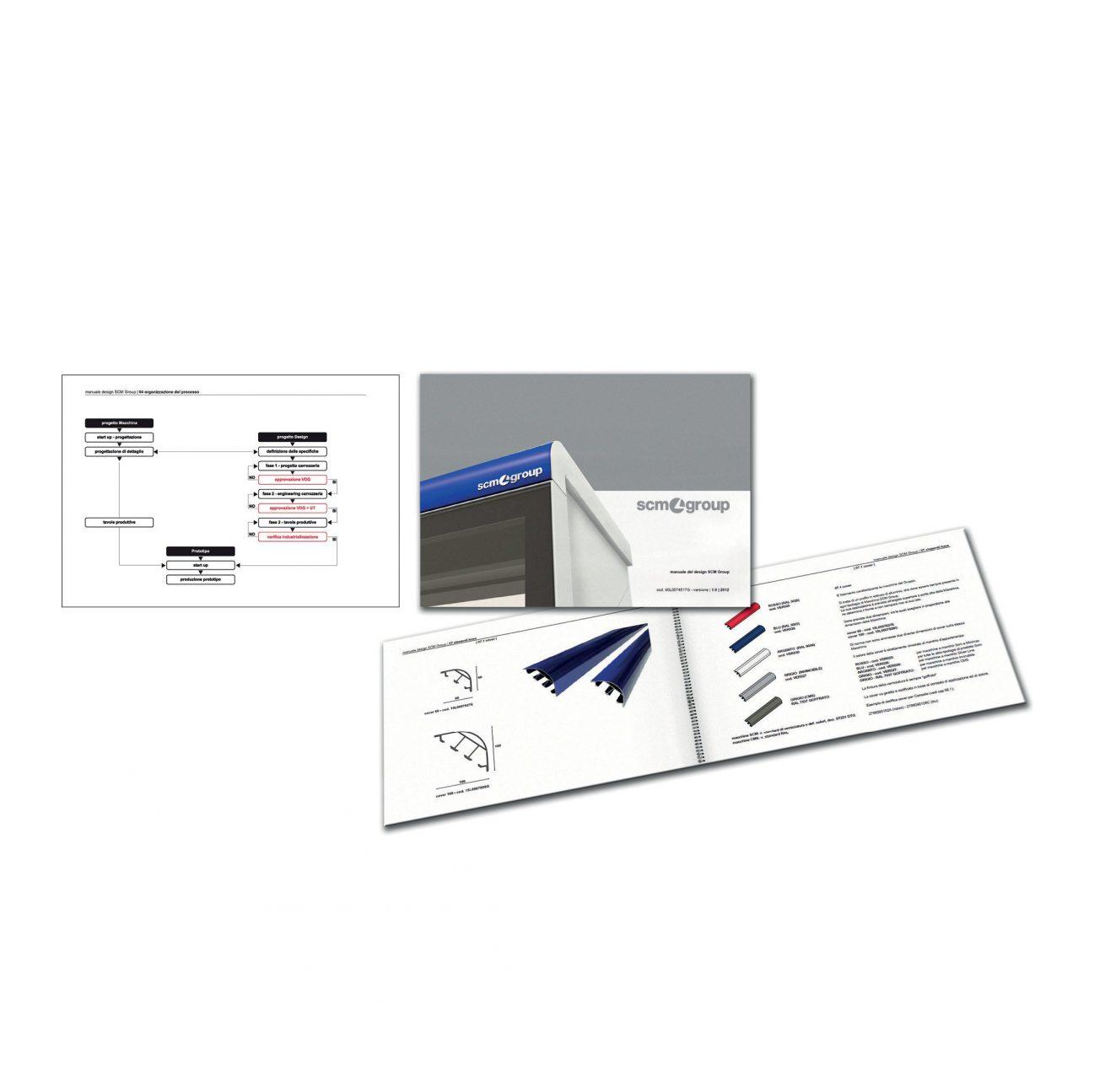 Progettazione realizzazione manuale design, Coordinazione stile gamma prodotti SCM Group