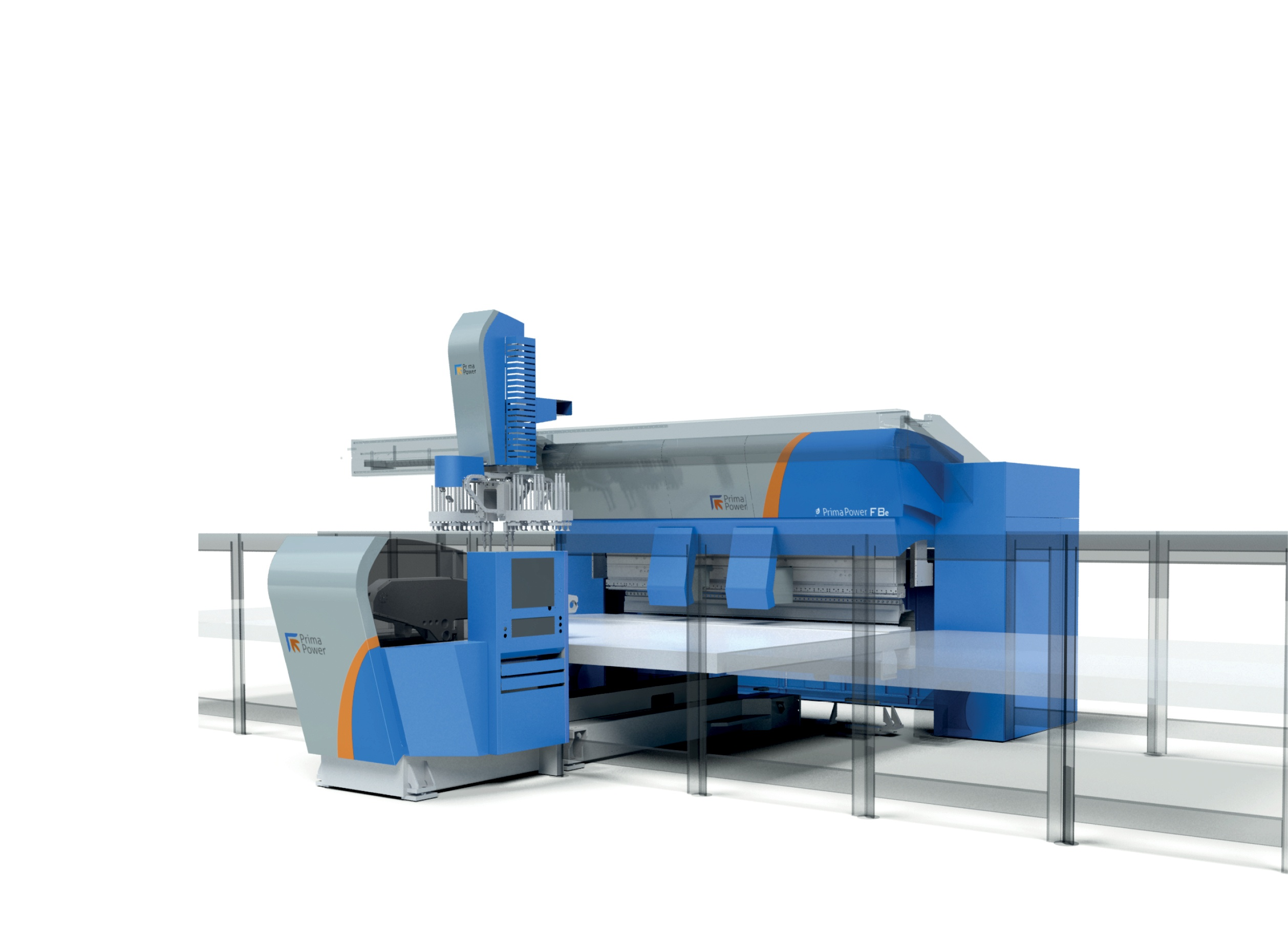 Bending machine body design, protection design PrimaPower