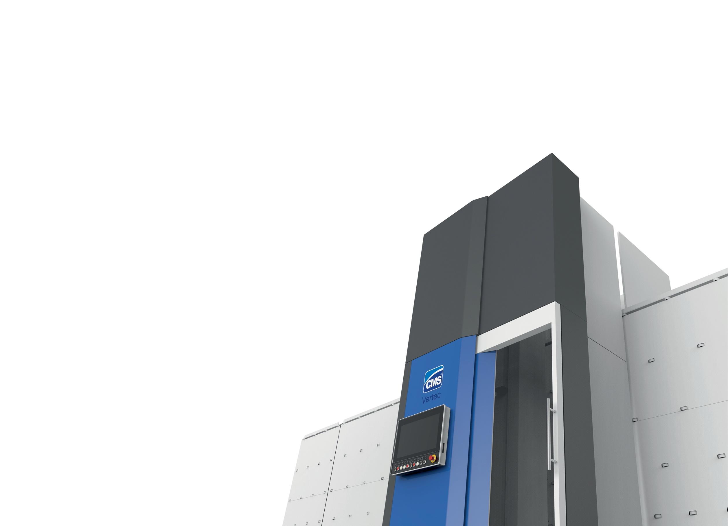 Industrial design macchina Foratrice per vetro CMS Vertec