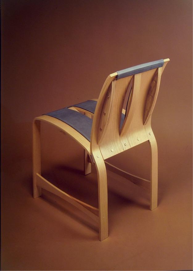Progettazione design sedia in legno curvato Promosedia