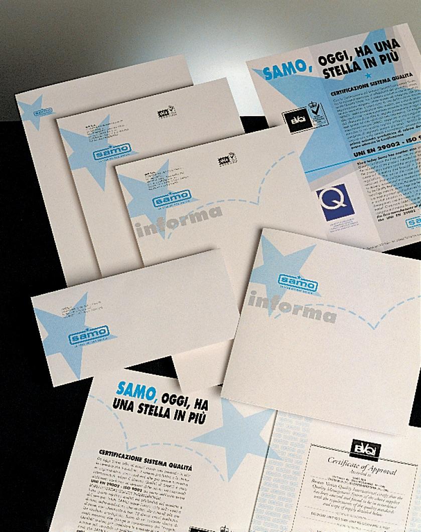 Immagine Coordinata SAMO, Corporate Identity SAMO