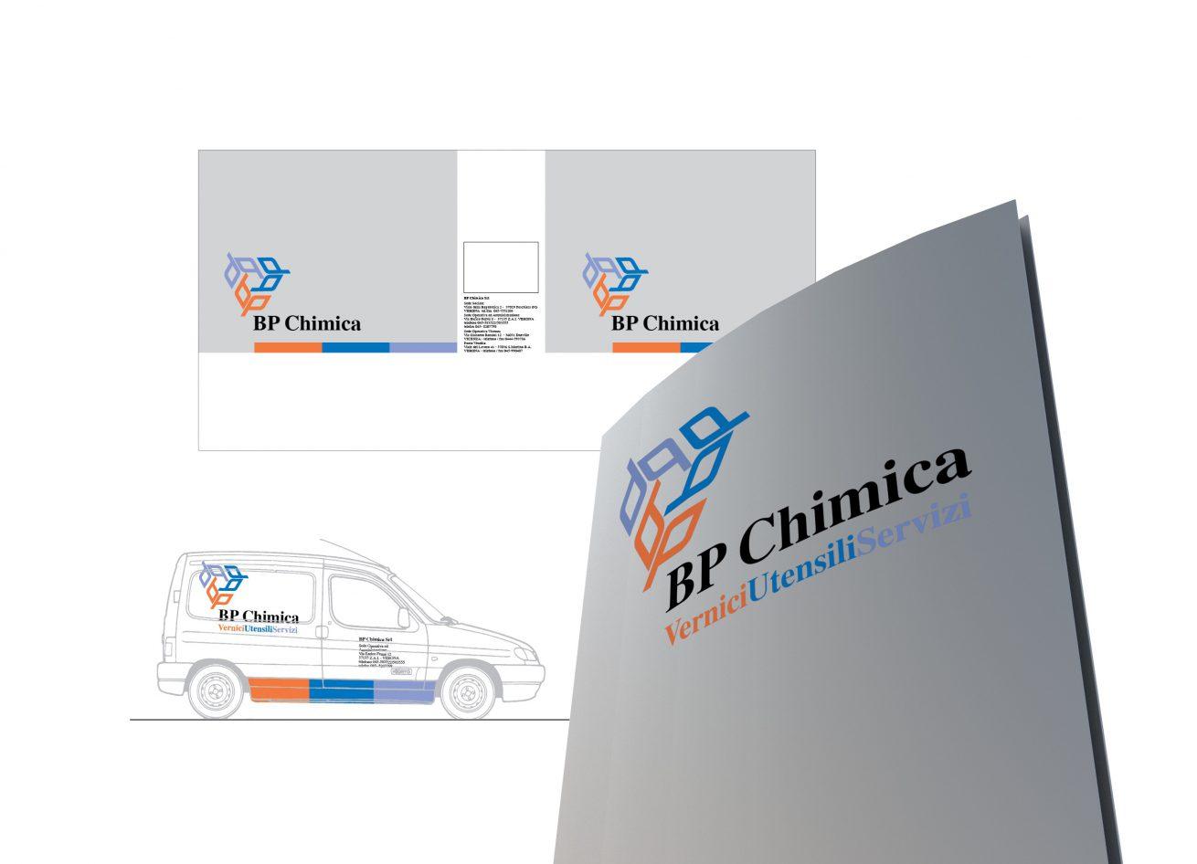 design brand aziendale, marchio e immagine coordinata BP Chimica