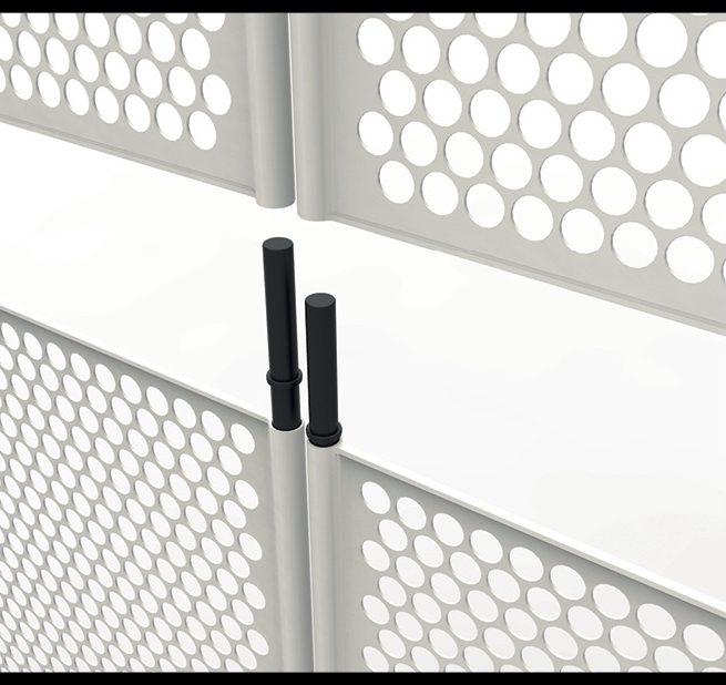 Design sistema recinzioni industriali plastica, progettazione recinzione
