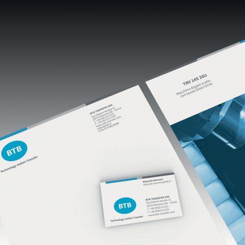 Sviluppo design marchio e immagine coordinata aziendale BTB Transfer