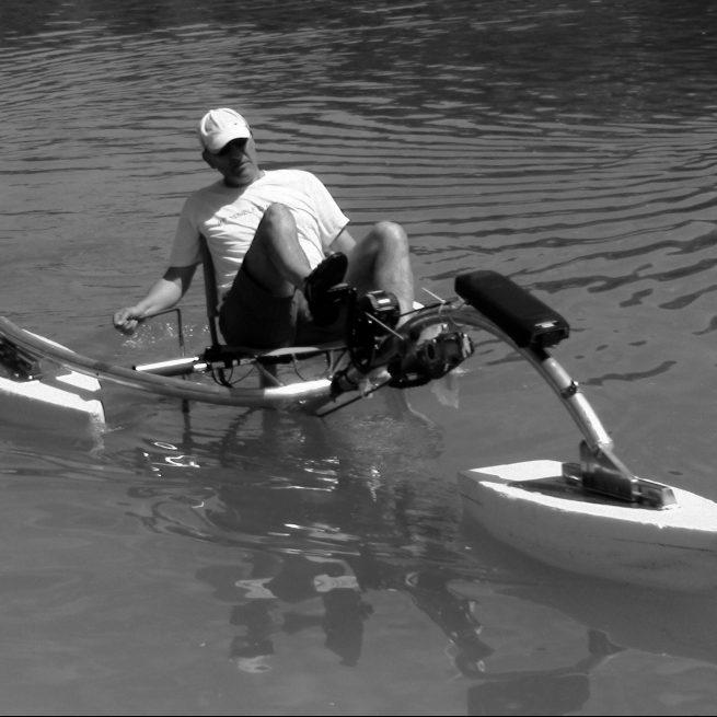 gerride e-boat in acqua