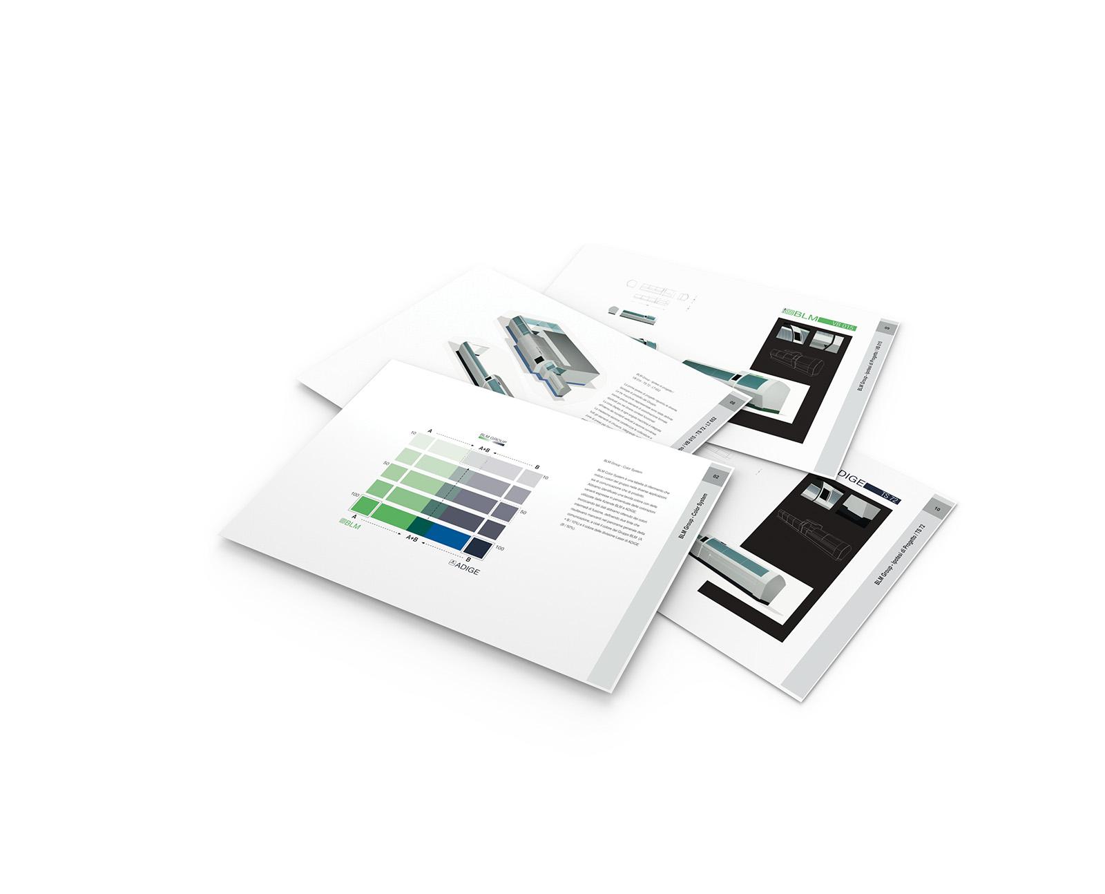 Progettazione manuale design e Identity family BLM Group