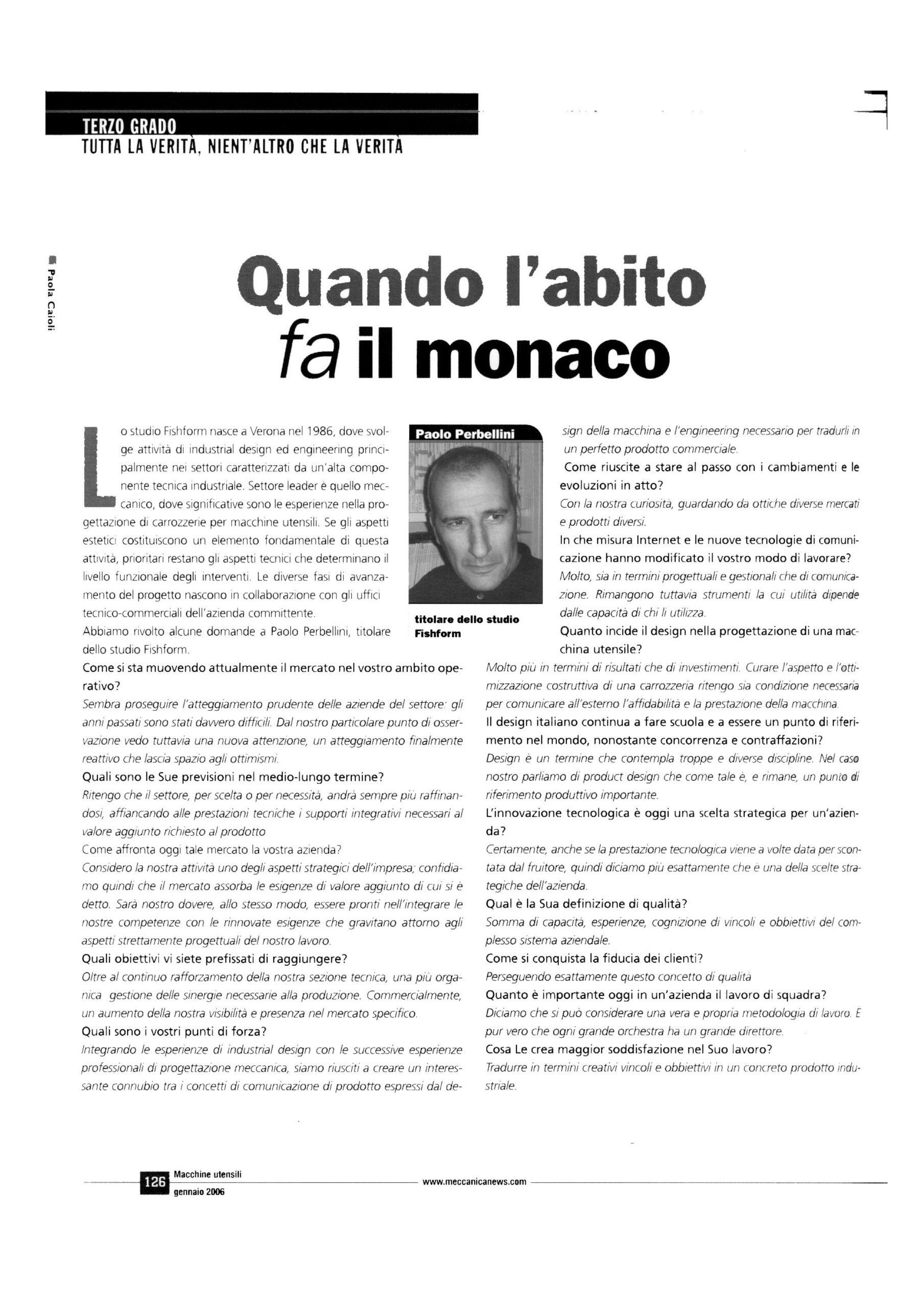 Macchine Utensili Intervista Gennaio 2006